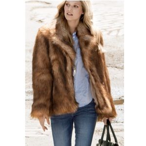 H&M Faux Fur Coat sz Small